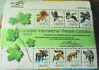 24Briefmarken USA Canadia Internationl Philatelic Exhibition zu 13cent Wildtiere