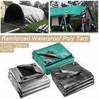 7/10/11Mil Heavy Duty Poly Tarp Tarpaulin Canopy Tent Outdoor Reinforced Cover