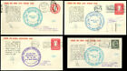 COBHAM PERI-COLOMBIA AAMC 4 HISTORIC FLIGHT COVERS FLT #567-67c MATCHED & SIGNED