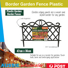 12x New Border Garden Fence Plastic Outdoor Diy Flower Beds Lawns Landscaping