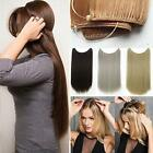 15inch -24inch One Piece Halo Headband Invisible Wire 100% Human Hair Extension