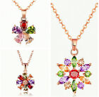 Flower 925 Sterling Silver Pendant Necklace Chain Women's Jewellery Wedding Gift