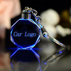 AD_ LED Car Logo Zinc Alloy Cut Glass Keychain Car Vehicle Logo Keyring Key Hold