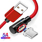 Type C Magnetic Fast Charging Cable 5A 90 Degree USB 3.1 Data...