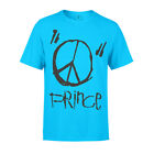 Prince Sign o' the Times Peace Men's T-Shirt Music Tee Short Sleeve Turquoise image