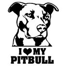 """i Love My Pitbull"" Car Stickers Graphics Decor Decal Stickers Accessories"