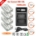 NB-10L Battery or Charger for Canon Powershot SX50 HS SX40 HS G15 G1 X G1X New