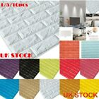 5/10/pack 3d Wallpaper Stone Brick Wall Sticker Panel Eco Foam Wall Decal Covers