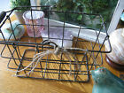 New Vintage Look Primative Style Rustic Country Metal Wire Egg Crate Basket