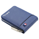 Men's Zipper Faux Leather Wallet Credit Card Holder Pocket Purse Coin Clutch