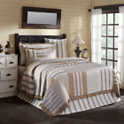VHC Grace Quilt Farmhouse Ticking Stripe (Your Choice Size & Accessories)  image