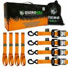 RHINO USA Ratchet Straps Heavy Duty Tie Down Set, 5,208 Break Strength (4)