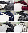3-Piece Plaid Sherpa Premium Reversible Comforter Set Micro-suede All-Comfort™ image
