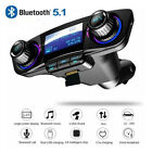 Car FM Transmitter Bluetooth MP3 Player Hands-free Radio Adapter Kit USB Charger