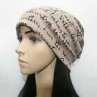 Unisex Jersey Beanie Slouch Printed Baggy Gym Hats Yoga Hijab Hair Loss Chemo