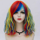 35 CM Lolita Multi-Color Lady Ombre Fashion Bob Curly Cosplay Wig Heat Resistant