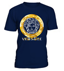 New Versace2019 Famous Gold Logo Luxury By Gildan Brand T-Shirt Full Size image