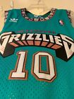 Mike Bibby Vancouver Grizzlies 10 Teal and White Mens Jersey