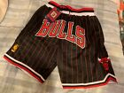 Chicago Bulls Black and Red Pinstripes Throwback Just Don Mens Basketball Shorts on eBay