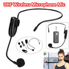 Clip Ear Headset UHF Earpiece Lapel Microphone System Transmitter & Receiver