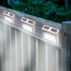 SUPER BRIGHT SOLAR POWERED DOOR FENCE WALL LIGHTS LED OUTDOOR GARDEN LIGHTING