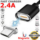 Braided Magnetic Lightning Micro USB Type-C Charger Charging Cable For Cellphone