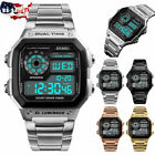 SKMEI 1335 Men Military Stainless Steel Wristwatch Electronic Sports Wrist Watch image