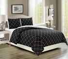 Englewood Black Reversible Comforter Set image