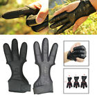 3 Finger Archery Protector Tab Guard Glove Gear Leather Tradition Bow Huntin US