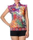 Smash Barcelona S-XXL UK 10-18 RRP ?69 Amora Blouse Tropical Floral Sheer