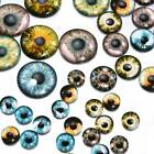 20Pcs 8mm/12mm/18mm Colorful Glass Safety Eyes For Doll Animal Toy DIY Crafts