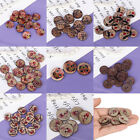 100Pcs Coconut Shell Sewing Buttons Scrapbooking 2 Holes Decoration Accessories