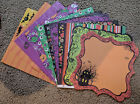 Best Creation 12x12 Glitter Scrapbook Paper Trick or Treat Halloween Monster Bat