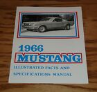 1966 Ford Mustang Illustrated Facts & Specifications Manual Brochure 66