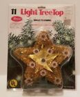 VTG 1970s Rose's Dept Store Gold Foil Tinsel Lighted Christmas Tree Topper Star