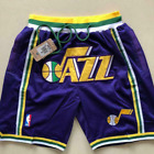 Utah Jazz Vintage Basketball Game Shorts NBA Men's NWT Stitched Pants on eBay