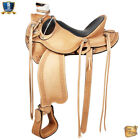 15 16 17 In Estern Horse Wade Saddle Leather Ranch Roping Tan U-D096