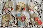 6 Vintage Style Embellishemnts for Cards, Scrapbook, Journals- different styles