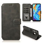 Case PU+TPU Wallet 3 Cards Slot Stand Phone Cover Buckle For Huawei P30 Lite