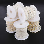 New Pave ABS Pearl Crystal Beads Rope DIY Craft Jewelry Decoration Wedding Dres`