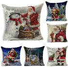 Christmas Printing Throw Pillow Case Cushion Cover Sofa Home Room Decoration Hot image