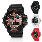SANDA Men's Military Digital LED Alarm Week Analog Quartz Sport Watch Waterproof image