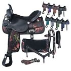 "Western Trail Saddle Only Or 7 Piece Pkg Camo Print - Black - 13"",14"",15"",16""17"""