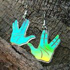 Star Trek Spock Vulcan Hand Salute Iridescent Dangle Earrings Next Gen Voyager on eBay