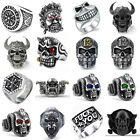 Fashion Women Men Vintage Gothic Punk Skull Ring Cool Men's Band Rings Jewelry