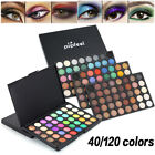 40/120 Colors Eyeshadow Matte Shimmer Eye Shadow Palette Cosmetic Makeup Kit