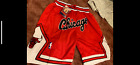 Kyпить Chicago Bulls Red and White Throwback Just Don Chicago Mens Basketball Shorts на еВаy.соm