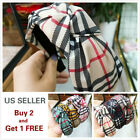 Headband Women Plaid Fashion Turban Striped Hair Band Plaid