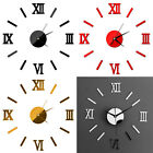 US Luxury DIY 3D Wall Clock Decal Stickers Mirror Modern Home Decor DIY Bedroom