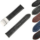 Genuine Leather Wrist watch Band Watch Strap Replacement 18/20/22/24mm Vintage image